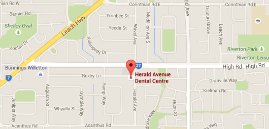 map for location of herald ave dental centre in willeton